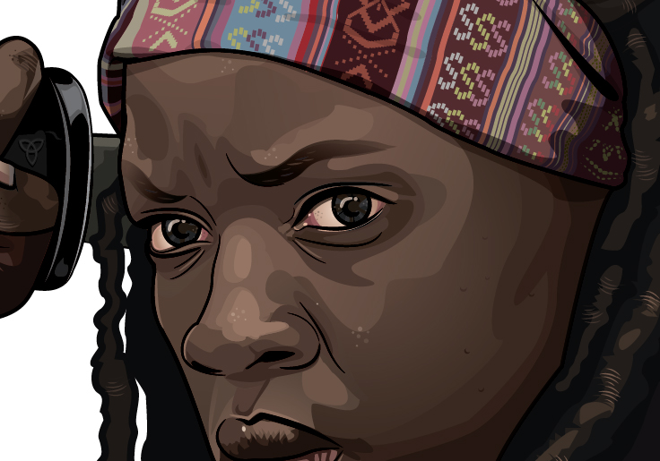 michonne close up face-01