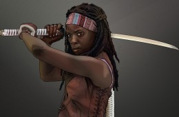 Michonne The Walking Dead tribute